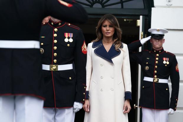 Мелания Трамп в пальто Gucci из натуральной шерсти за 2 700 евро (фото 2)