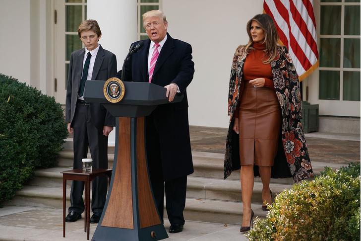 Мелания Трамп на традиционной церемонии перед Днем благодарения (фото 4)