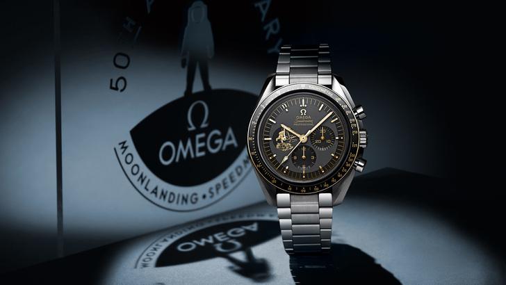 Просто космос: Omega выпустили лимитированную серию часов в честь 50-летия высадки на Луну (фото 1)