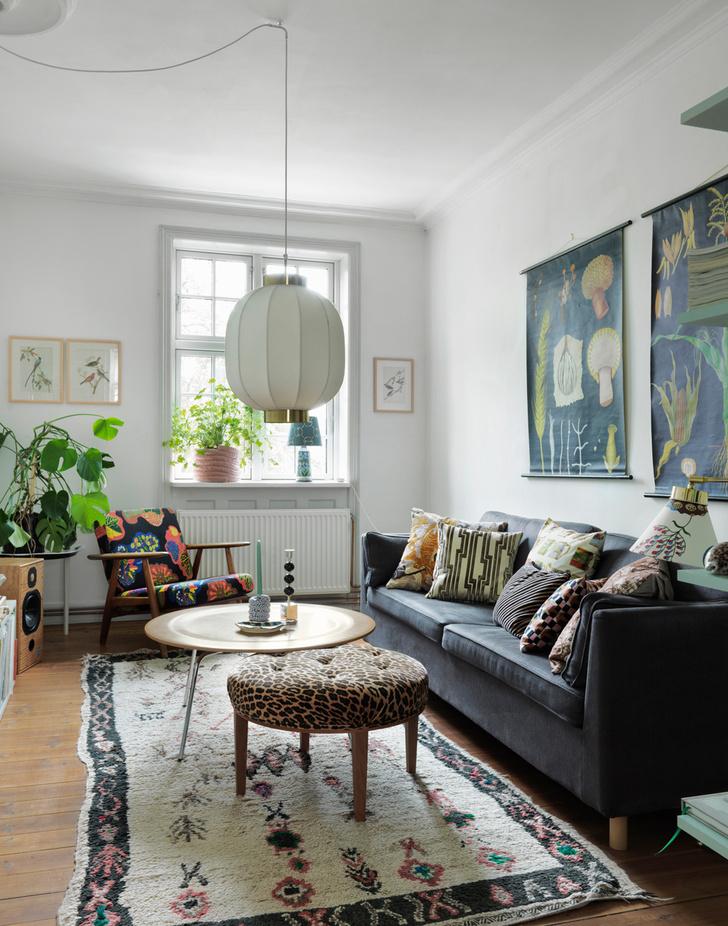 Яркая квартира для творческой пары в Копенгагене (фото 0)