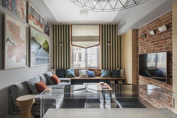 Эклектичная квартира 100 м² для большой семьи (фото 0)