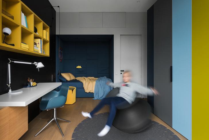Двухэтажный лофт на Пресне для семьи с двумя детьми (фото 23)