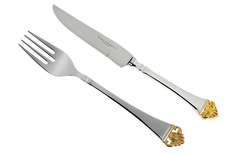 9 Вилка и нож Rosenmuster, Robbe & Berking, салон DeLuxe Home Creation, «Дом Фарфора», от 22 750 руб. за шт.