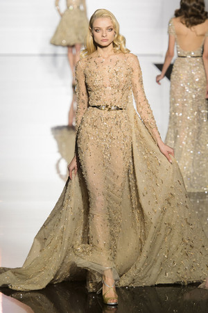 Показ Zuhair Murad коллекции сезона Весна-лето 2015 года haute couture - www.elle.ru - Подиум - фото 593253