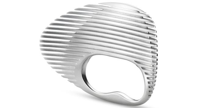 Серебряное кольцо Lamellae Double Ring