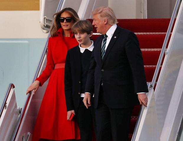 Дональд, Мелания и Бэррон Трамп