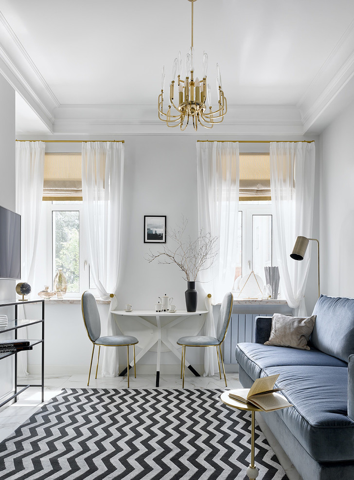 Блеск на воде: квартира в стиле современной классики (фото 5)