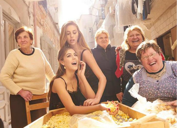 Вива Италия: в новой кампании Dolce & Gabbana снялись дочери Сильвестра Сталлоне фото [4]