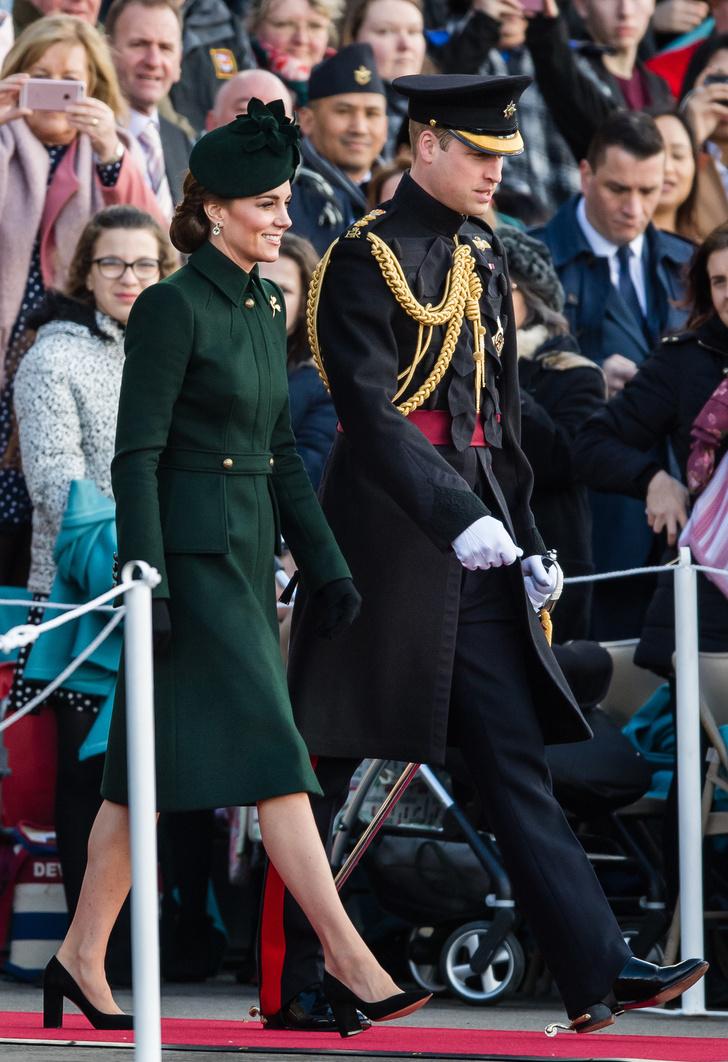 На зеленый: Кейт Миддлтон на параде в честь дня святого Патрика (фото 1)