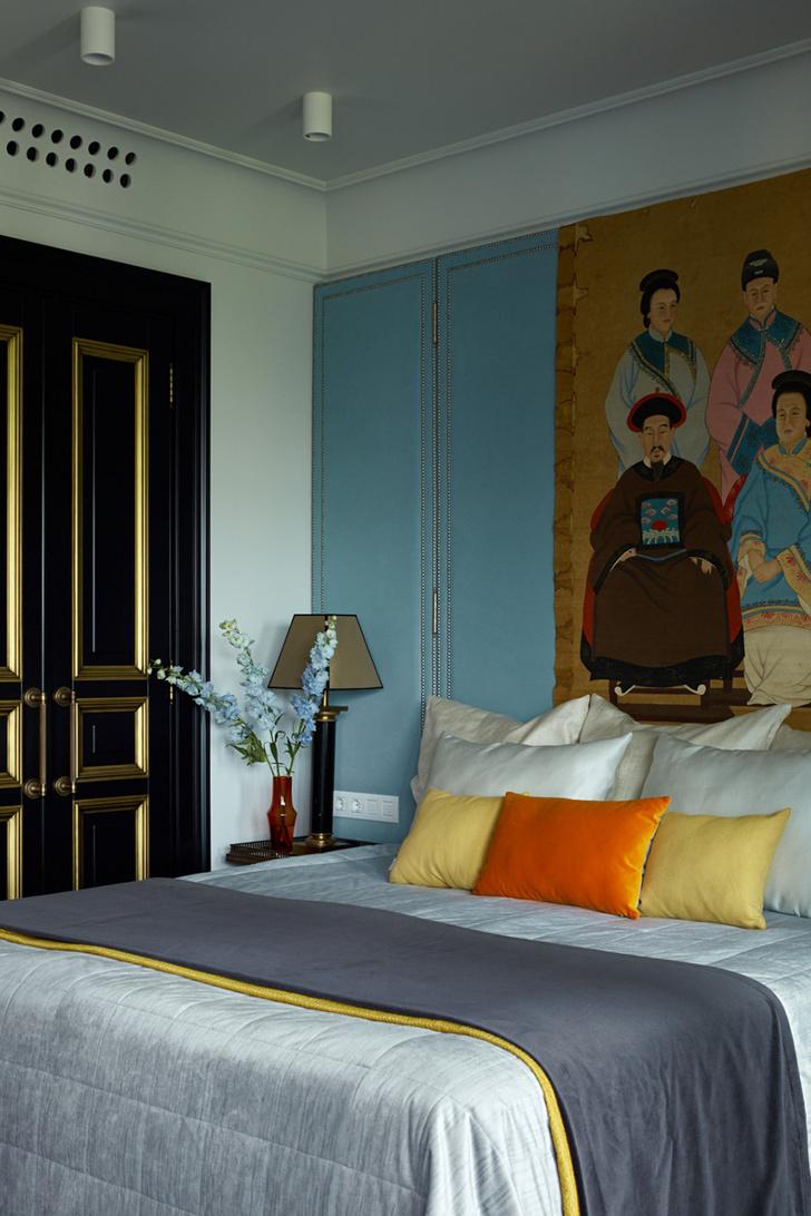 Жемчужно-голубая квартира для семьи из трех поколений фото [6]