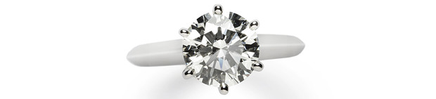 Кольцо Setting, платина, бриллиант, Tiffany & Co., цена по запросу.