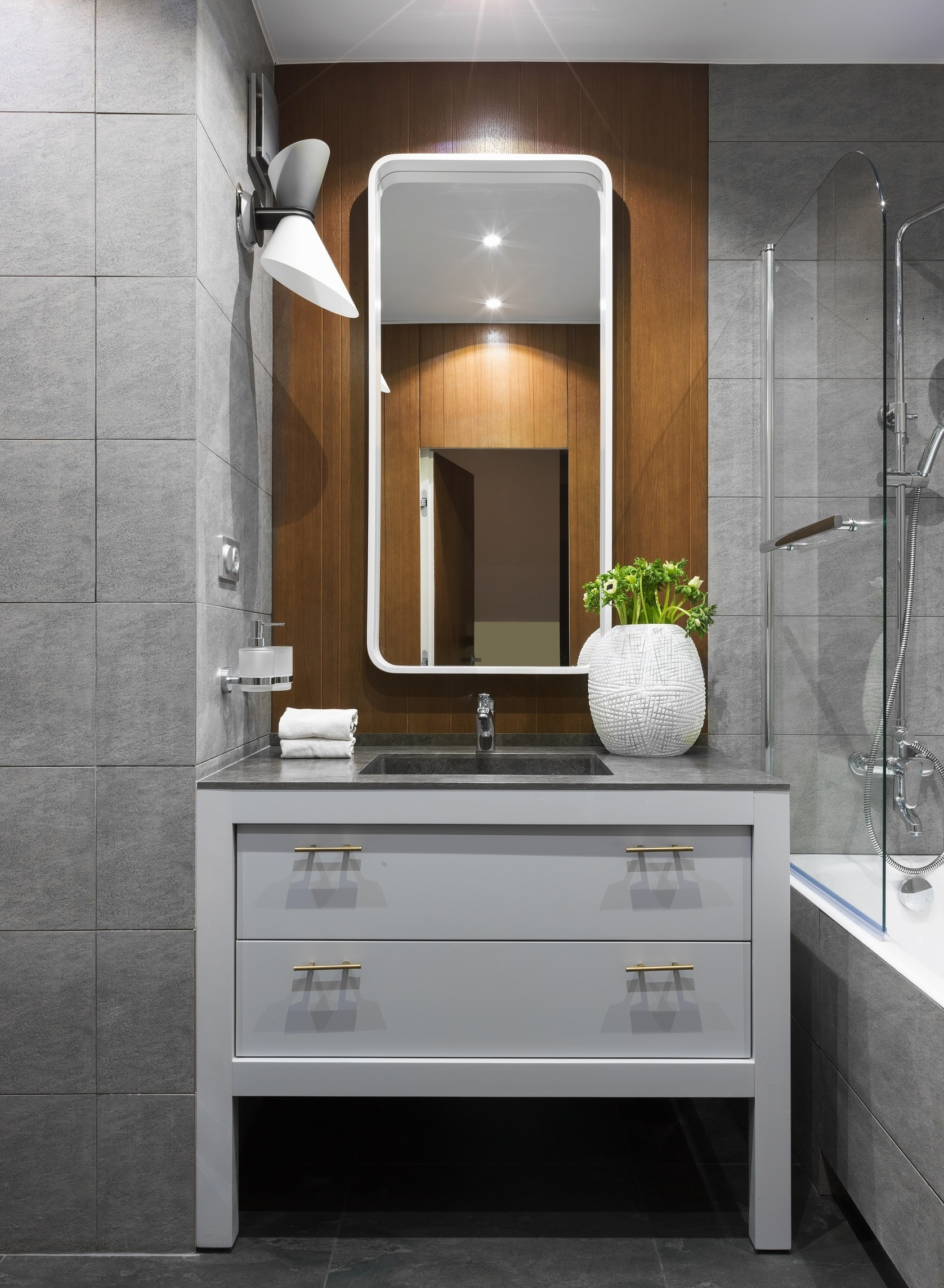 Маленькая ванная комната: 20 интерьеров (галерея 0, фото 3)