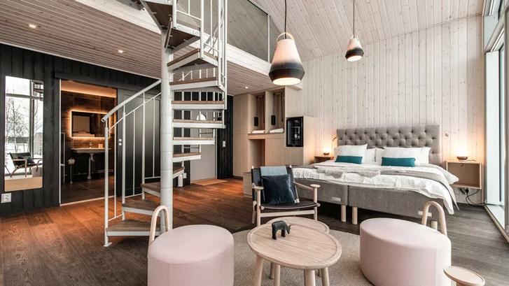 Arctic Bath: плавучий отель в Швеции (фото 10)