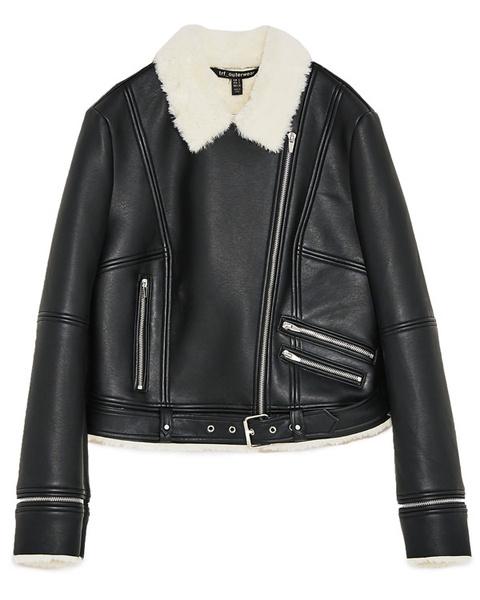 Модные зимние куртки из кожи с мехом фото