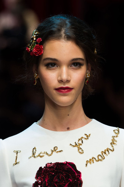 Бьюти-тренды всех Недель моды fw 2015 | галерея [4] фото [2] Dolce & Gabbana