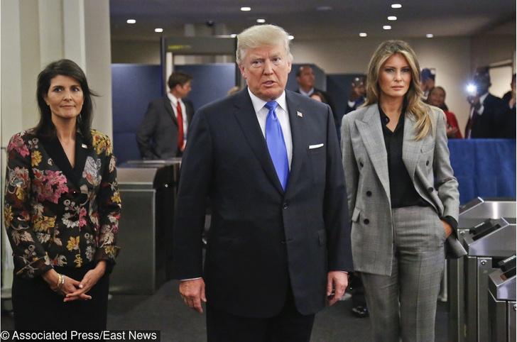 Мелания Трамп в костюм Calvin Klein