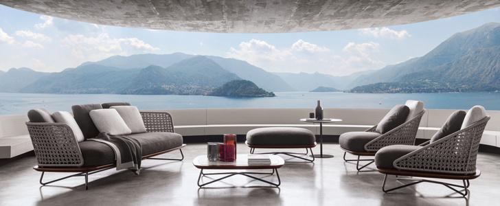 Outdoor коллекция мебели Rivera от фабрики Minotti