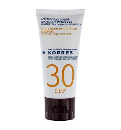 Солнцезащитный крем для лица Korres с йогуртом