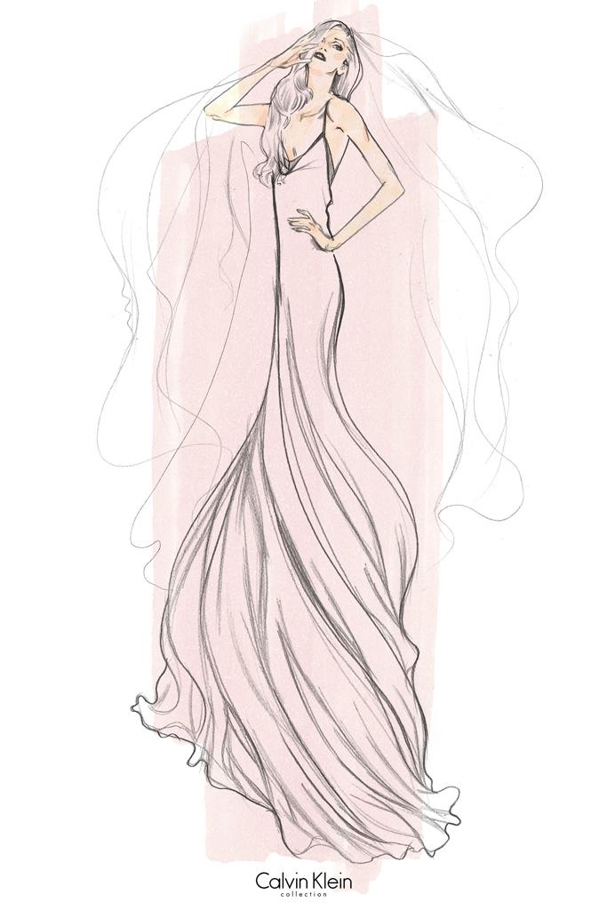 Свадебное платье Леди Гага от Calvin Klein