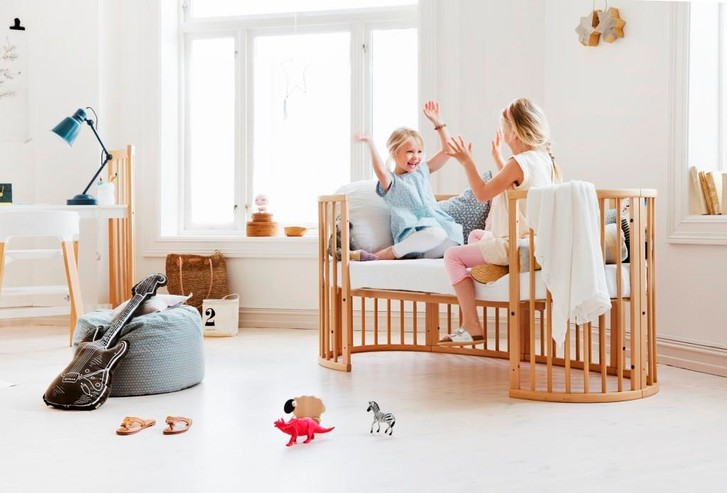 Сладкие сны: овальная кроватка Stokke Sleepi, которая растёт вместе с малышом