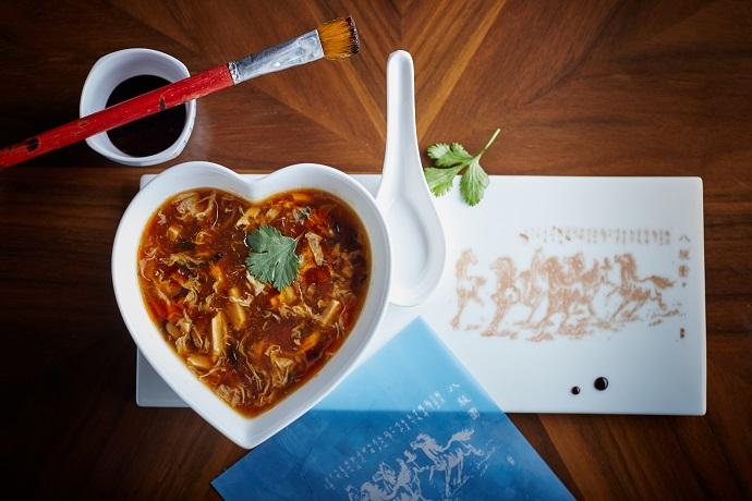 Китайский кисло-острый суп с курицей
