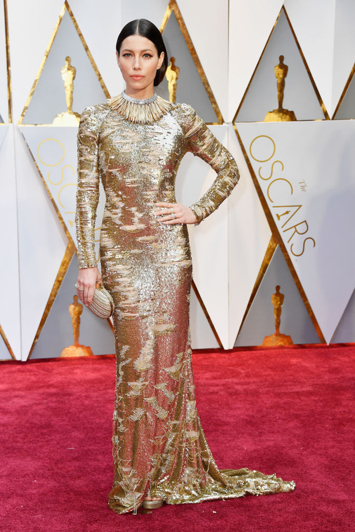 Джессика Бил в Kaufmanfranco на «Оскаре-2017»