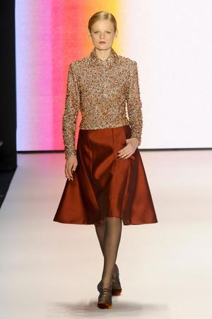 Показ Carolina Herrera коллекции сезона Осень-зима 2011-2012 года prêt-à-porter - www.elle.ru - Подиум - фото 228844