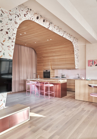 Розовый дом с комнатой для кошек на Тайване (фото 15.2)