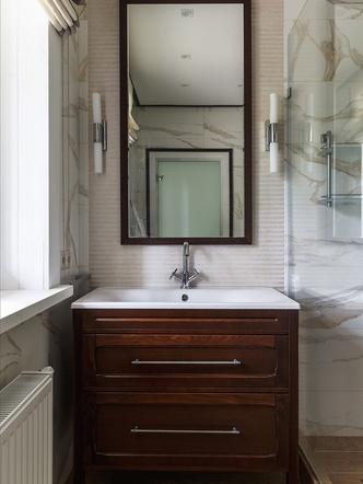 Ванная комната. Плитка, Porcelanosa. Мебель и раковины, Leroni.