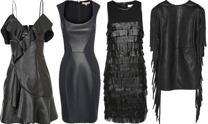 Зимние черное платье