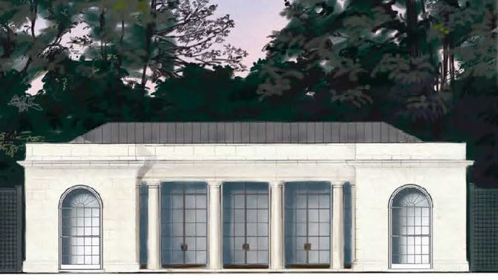 Проект теннисного павильона в Белом доме (фото 0)