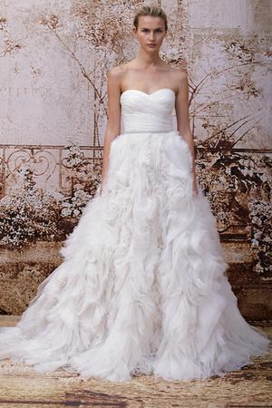 Показ Monique Lhuillier коллекции сезона Осень 2014 года Bridal - www.elle.ru - Подиум - фото 575601