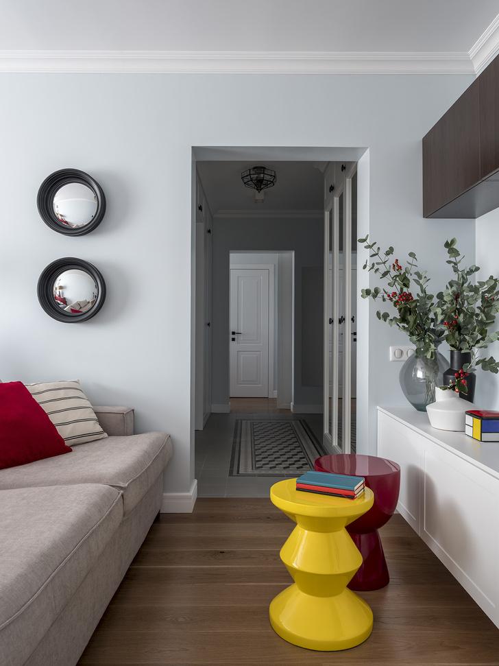 Дитя заката: фламинго и другие яркие  решения в типовой квартире 55 м² (фото 8)