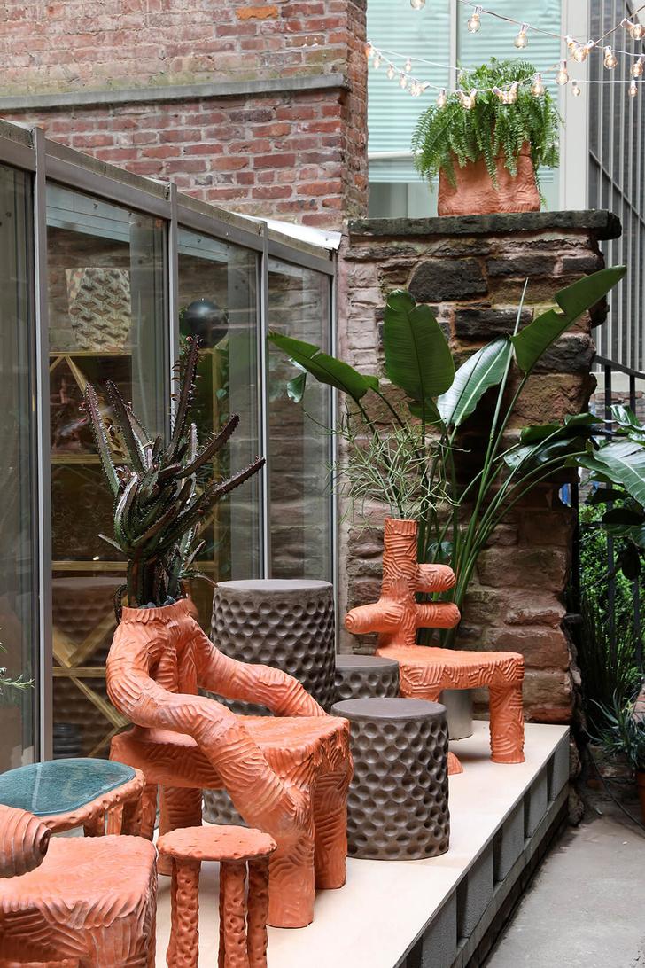 Глиняная мебель Криса Уолстона (фото 2)