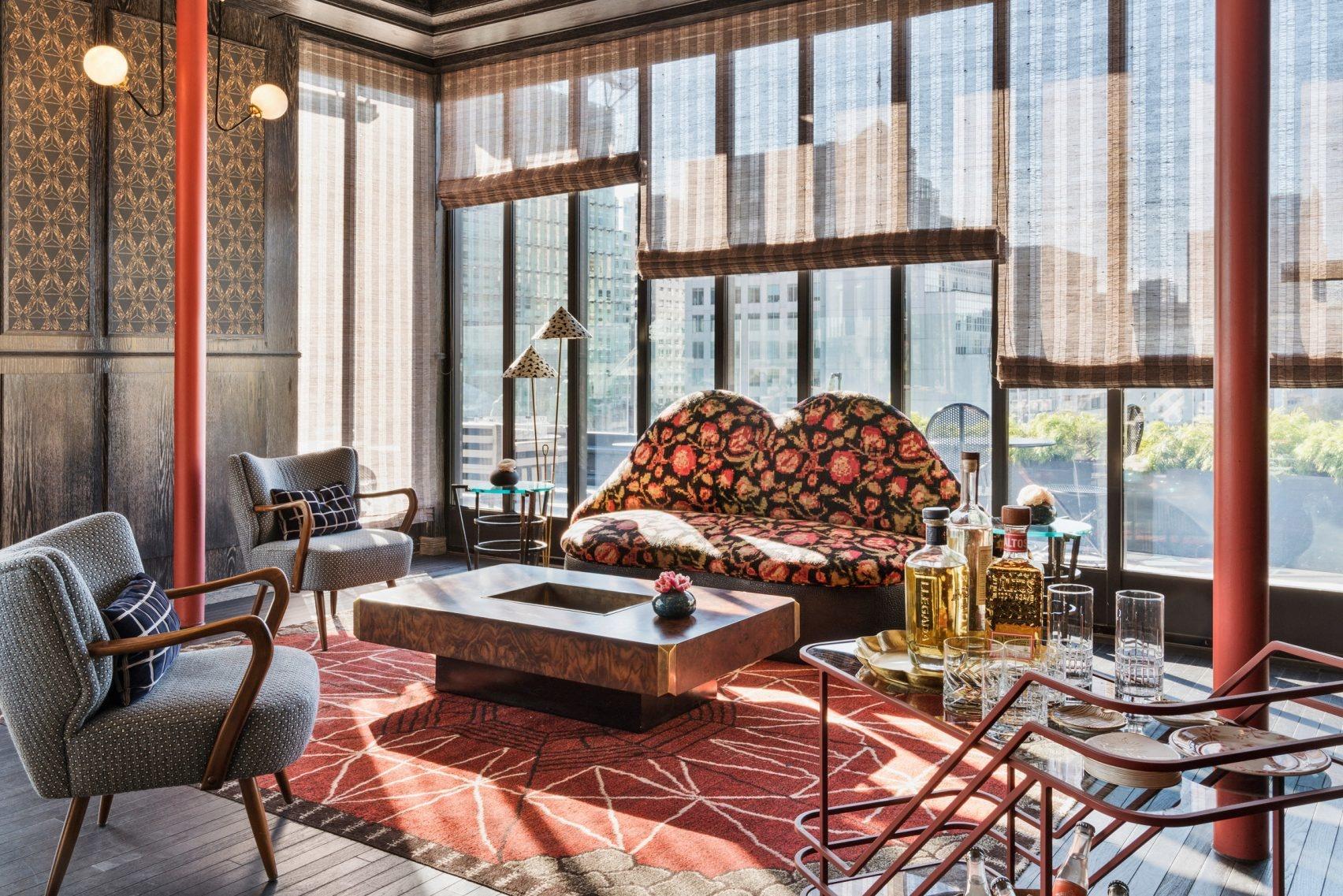Винтажный look: Келли Уестлер оформила отель в Сан-Франциско (галерея 4, фото 3)