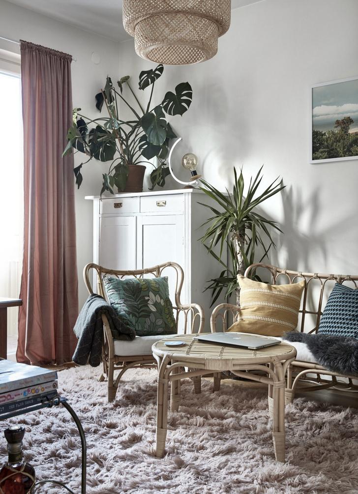 Квартира с винтажной мебелью в Стокгольме (фото 0)