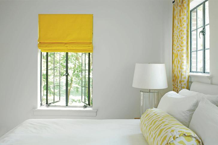 Желтый цвет в интерьере
