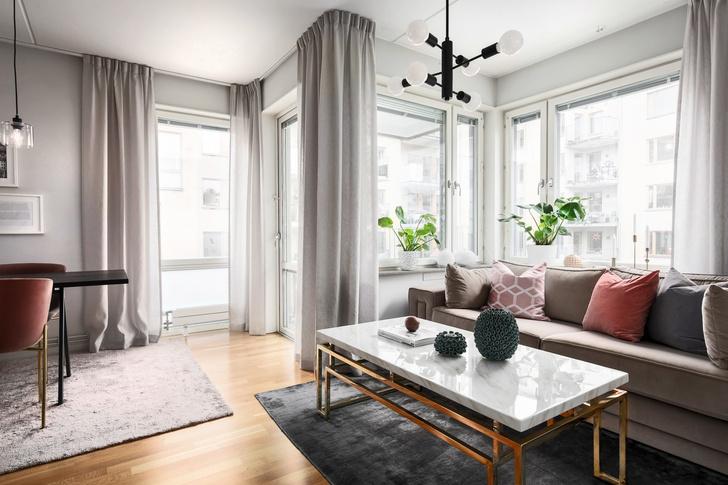 Светлая квартира 62 м² в Стокгольме (фото 2)