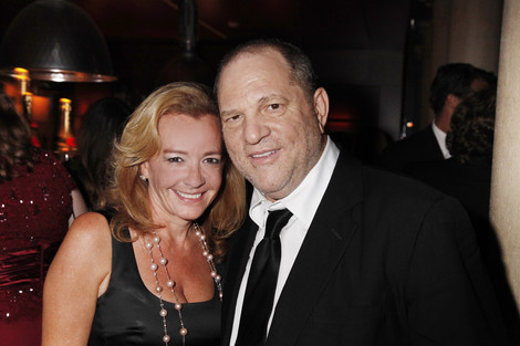C. Scheufele and Harvey Weinstein at TWC dinner for The Master at the Venice Film Festival