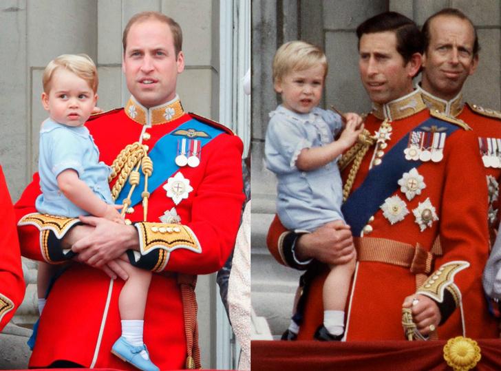 Фото дня: королевская семья на параде в честь дня рождения Елизаветы II