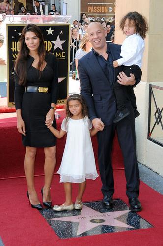 С женой Паломой и детьми Ханией и Винсентом