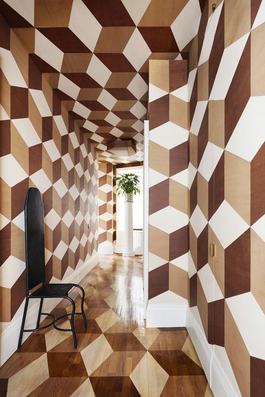 Геометрический принт: 10 интерьеров (галерея 0, фото 0)