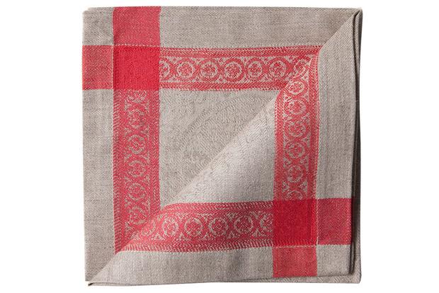 Льняные жаккардовые салфетки (комплект из 4 шт.), Zara Home, магазины Zara Home.