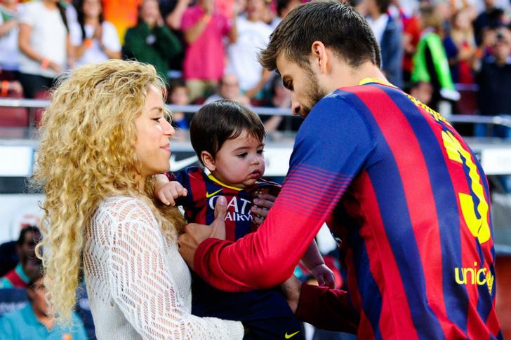 Шакира и Жерар Пике с сыном