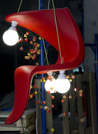 Vitra, выставака, Hommage супрематизму, дизайн, Panton Chair