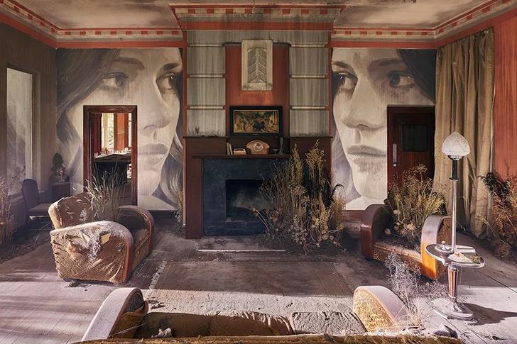 Блеск и нищета: картины на стенах заброшенного особняка (фото 3)
