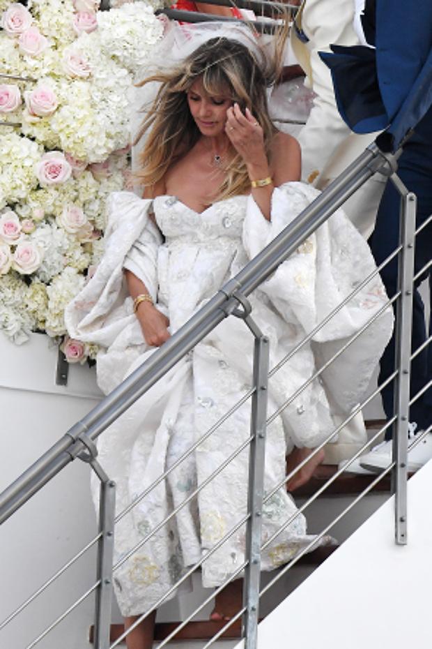Первый взгляд: бесподобное свадебное платье Хайди Клум (фото 1)