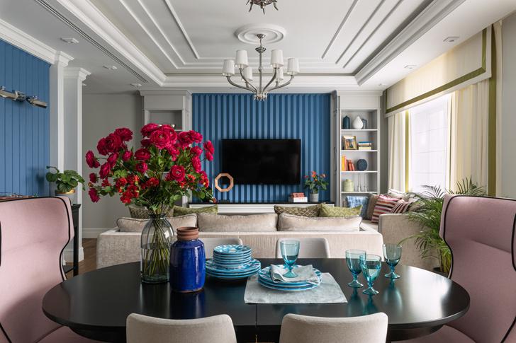 Квартира 150 м² в Екатеринбурге с синими акцентами (фото 0)