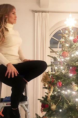 Самые красивые новогодние елки зарубежных звезд (фото 24)