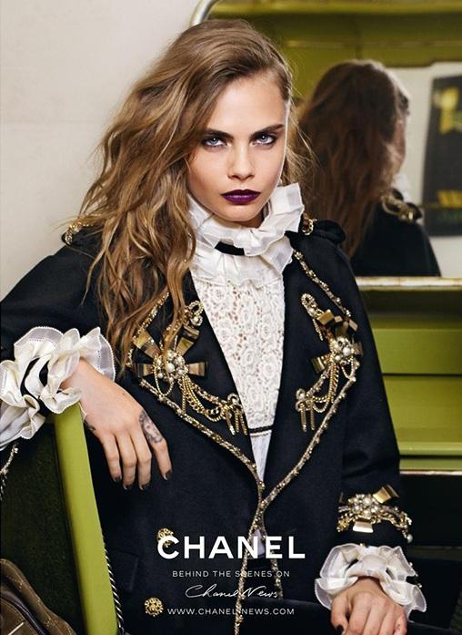 Первый кадр рекламной кампании Chanel Paris-Salzburg с Карой Делевинь